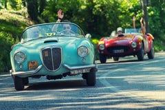 1000Miglia Italiaans historisch uitstekend autoras Royalty-vrije Stock Afbeelding