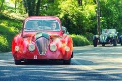 1000Miglia Italian historical vintage car race Royalty Free Stock Photography