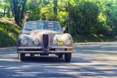 1000Miglia Italian historical vintage car race Stock Photos