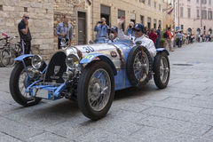 Miglia 1000 2015, Italys berömt billopp Arkivfoton