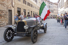 1000 Miglia 2015, Italys famous car race Royalty Free Stock Images