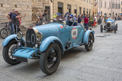 1000 Miglia 2015, Italys famous car race Royalty Free Stock Photos