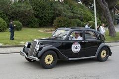 1000 miglia, Lancia Aprilia Berlina 1350 (1939), SCOTTO Enrico Fotografia Stock
