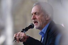 Migliaia marzo a sostegno di NHS Immagini Stock