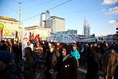 Migliaia stanno dimostrando Immagine Stock Libera da Diritti