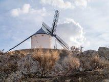 Miglio di Don Quixote a Consuegra fotografia stock