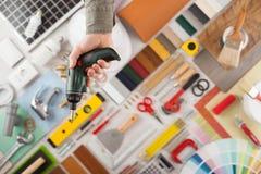 Miglioramento domestico di fai-da-te fotografie stock