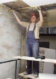 Miglioramento-isolazione del soffitto Fotografia Stock Libera da Diritti