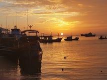 Migliore alba di festa della Tailandia di kohtao di vista Fotografia Stock Libera da Diritti