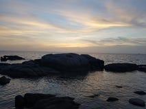 Migliore alba di festa della Tailandia di kohtao di vista Fotografie Stock Libere da Diritti