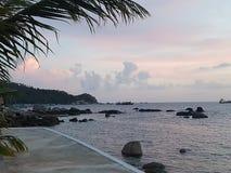 Migliore alba di festa della Tailandia di kohtao di vista Immagini Stock
