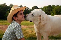Migliore amico del cowboy Fotografia Stock Libera da Diritti