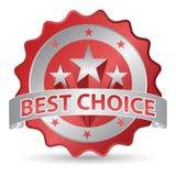 Migliore autoadesivo choice Fotografie Stock Libere da Diritti