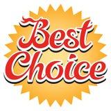 Migliore autoadesivo Choice Fotografia Stock Libera da Diritti