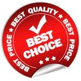 Migliore autoadesivo choice di garanzia Immagine Stock