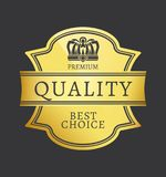 Migliore autoadesivo dorato brillante Choice di qualità premio Fotografia Stock