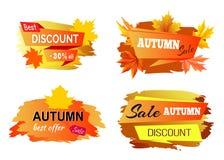 Migliore Autumn Discount Offer Vector Illustration illustrazione di stock