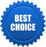 Migliore blu choice del bollo della guarnizione Immagini Stock