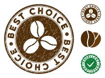Migliore bollo Choice con effetto Grungy Illustrazione Vettoriale