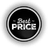 Migliore bollo del nero di prezzi con struttura di semitono Illustrazione Vettoriale