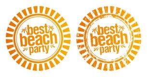 Migliore bollo del partito della spiaggia. Fotografia Stock