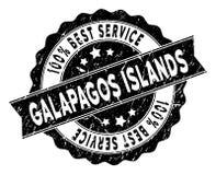 Migliore bollo di servizio di isole Galapagos con la superficie della polvere illustrazione di stock