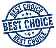 migliore bollo rotondo blu choice Fotografia Stock