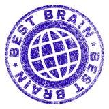 MIGLIORE BRAIN Stamp Seal strutturato graffiato Immagini Stock