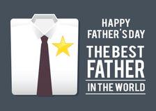 Migliore camicia di In The World del padre, saluti di giorno di padri Fotografie Stock Libere da Diritti