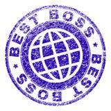 MIGLIORE CAPO strutturato graffiato Stamp Seal Fotografia Stock