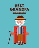 Migliore carta del nonno Fotografie Stock Libere da Diritti
