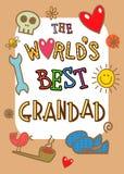 Migliore carta di nonno dei mondi illustrazione vettoriale