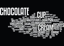 Migliore cioccolato Chip Cheesecake Word Cloud Concept di ricette Immagini Stock Libere da Diritti