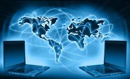 Migliore concetto del Internet del commercio globale da concentrato Immagine Stock Libera da Diritti
