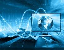 Migliore concetto del Internet del commercio globale Globo Immagine Stock Libera da Diritti