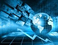 Migliore concetto del Internet del commercio globale Globo Fotografia Stock