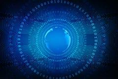 Migliore concetto di Internet dell'affare globale, fondo astratto di tecnologia di Digital Elettronica, Wi-Fi, raggi, Internet di Fotografia Stock