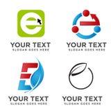 Migliore concetto elegante moderno di logo della lettera E illustrazione di stock
