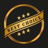 Migliore contrassegno choice Immagini Stock