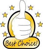 Migliore contrassegno choice Fotografia Stock