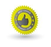 Migliore contrassegno choice Fotografia Stock Libera da Diritti