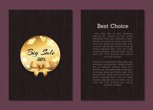 Migliore copertura Choice Front Back Page Gold Label di vendita Immagine Stock