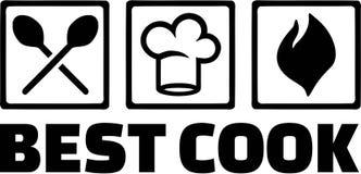Migliore cuoco Cooking Icons Kitchen Fotografia Stock