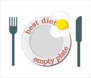 Migliore dieta - piatto vuoto Fotografia Stock