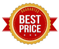 Migliore distintivo di garanzia di prezzi Fotografia Stock Libera da Diritti