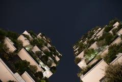 Migliore edificio alto universalmente di notte immagine stock