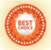 Migliore etichetta choice. Fotografie Stock