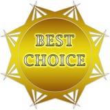Migliore etichetta Choice Fotografia Stock