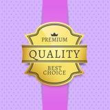 Migliore etichetta Choice di qualità premio con testo Fotografie Stock Libere da Diritti