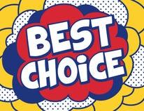 Migliore fondo Choice nello schiocco Art Style Immagine Stock